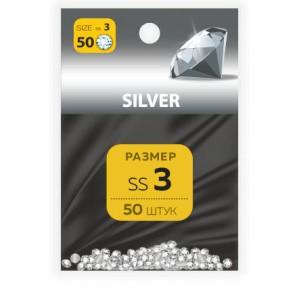 MILV Стразы SS №3 Silver (50 шт.)