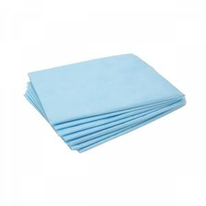 Салфетка 40*40 100шт одноразовые в сложении (голубые), 17 гр/м2