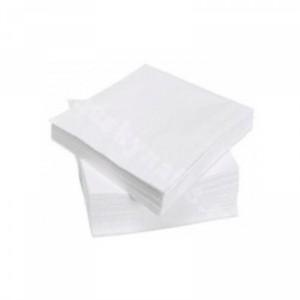 Салфетки 40*40 одноразовые 100шт пачка (белые)