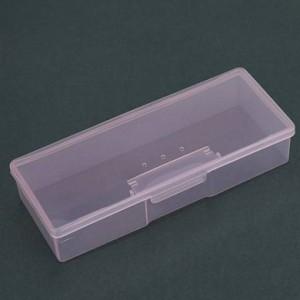Пластиковый контейнер прямоугольный - прозрачно-розовый