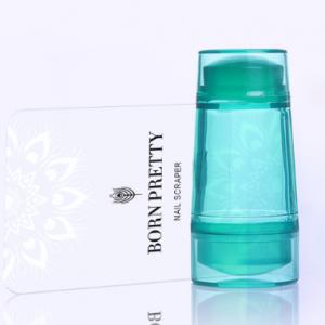 BORN PRETTY Набор зеленый штамп прозрачный силиконовый двухсторонний + скрапер (40251-3) (27137-2)