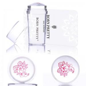 BORN PRETTY Набор штамп прозрачный силиконовый + скрапер (25560)-1