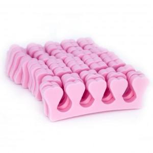 Разделители для педикюра 100 пар - розовые