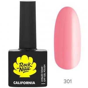 RockNail California Р301 Pink Salt Гель лак