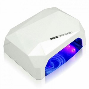 Soline Diamond 36 ватт белая Лампа гибрид CCFL+LED для гель лака