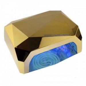Soline Diamond 36 ватт золотая Лампа гибрид CCFL+LED для гель лака