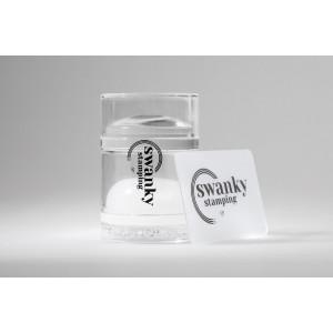 Штамп Swanky Stamping прозрачный, силиконовый, двойной, 4 см