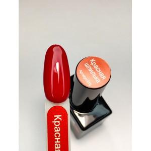 INOX И019 - Красная шпилька гель лак