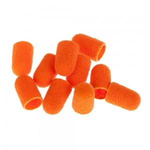 Lukas Колпачки педикюрные D10 мм Абразив 080 (Оранжевые) 10шт/упак