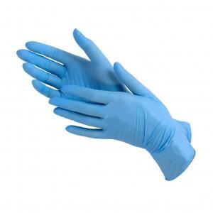 Перчатки нитрил Wally Plastic 2020 р-р M (голубые)