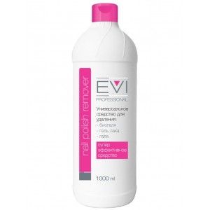 EVI professional  Средство для снятия биогеля, геля, гель-лака 1000 мл/6 шт, 005-017