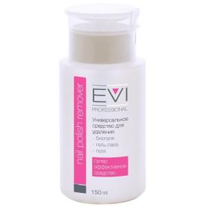 EVI professional  Средство для снятия биогеля, геля, гель-лака с помпой-дозатором 150 мл/15 шт, 005-038