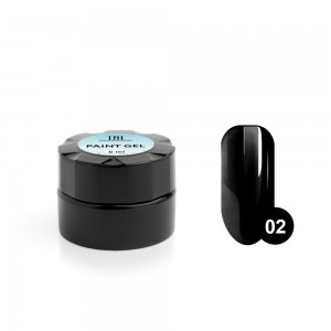 TNL Гель-краска для дизайна ногтей №02 (черная), 6 мл.