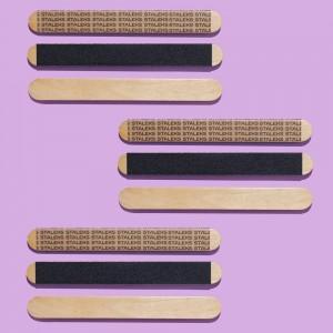 Staleks Пилка деревянная уп.50шт одноразовая прямая (основа) EXPERT 20