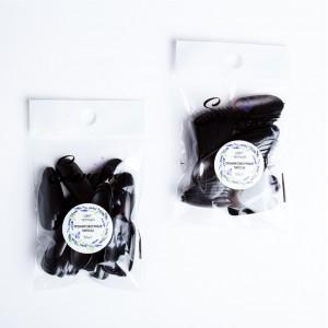 Serebro Тренировочные типсы, цвет черный (50 шт)